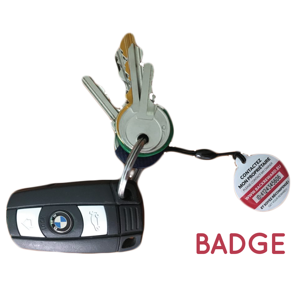 badge, backreward, objets, perdus