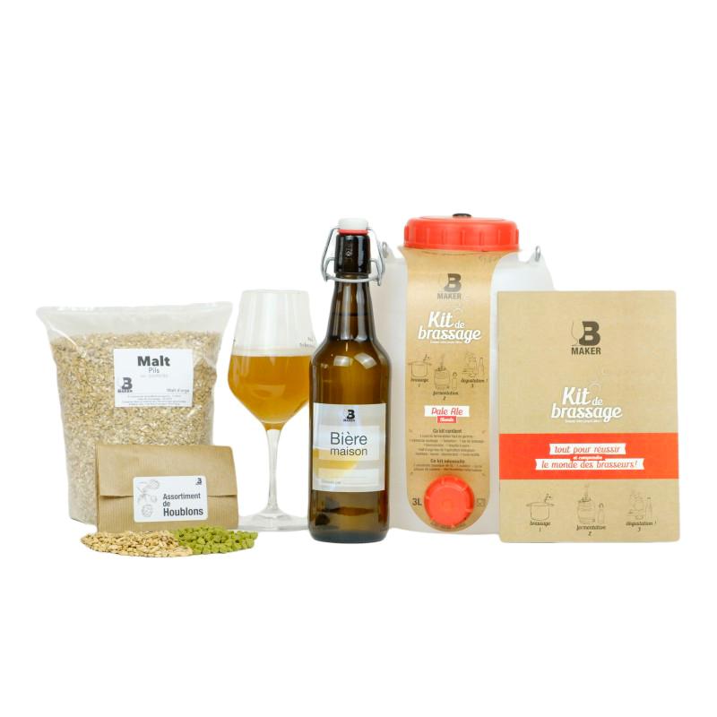 kit, bière, brassage, b, maker
