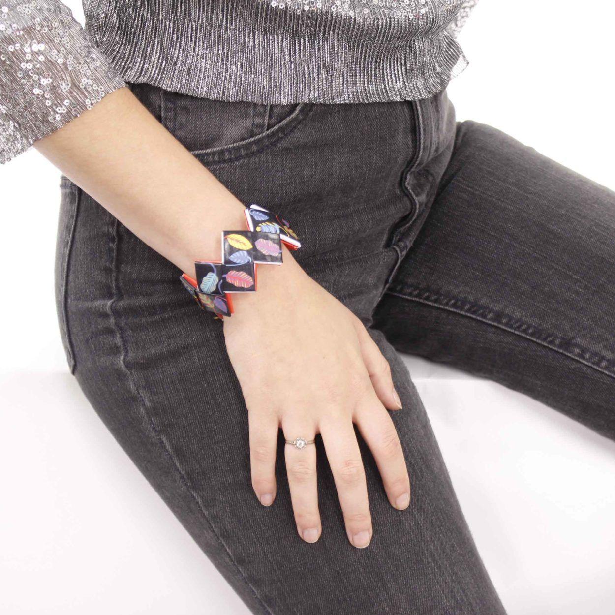 bracelet-plume-noir-femme-naona-original