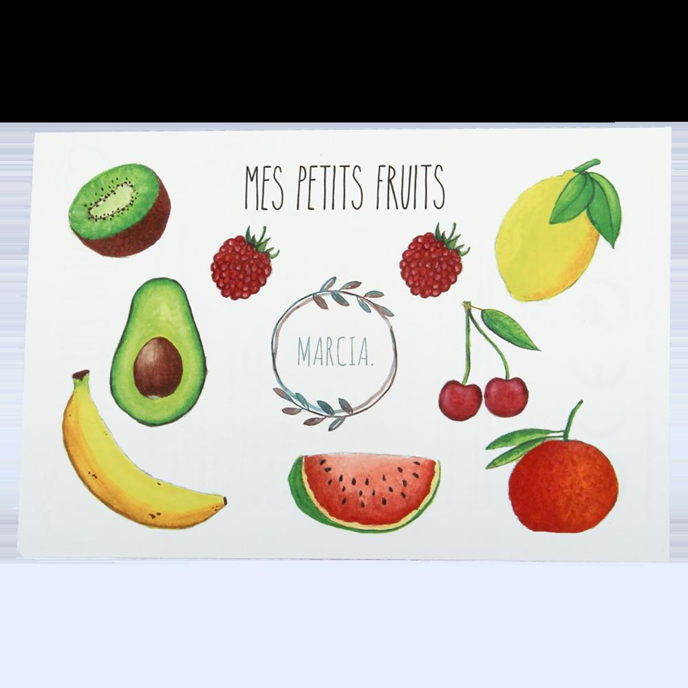 Planche Tatoos Fruits | Marcia Création