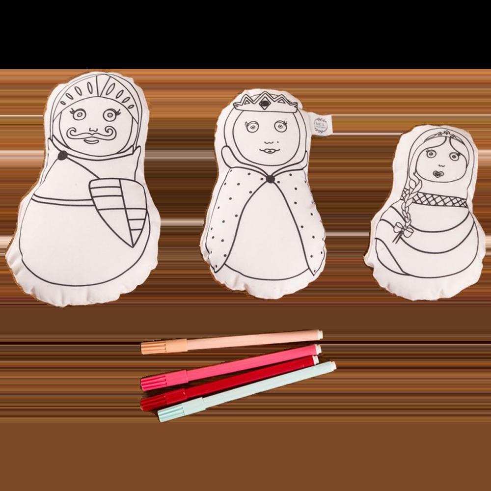 Ma famille Chevalier à colorier x3   Marcia Création
