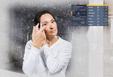 smart mirror-miroir-connecté-salle de bain