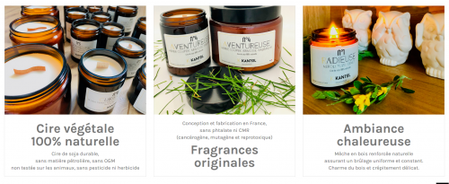Bougies Kantol Made in france