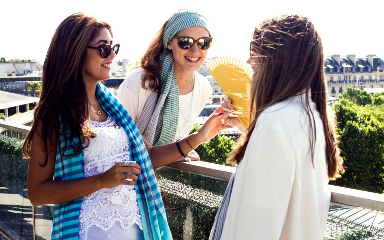 foulard krama coloré bleu
