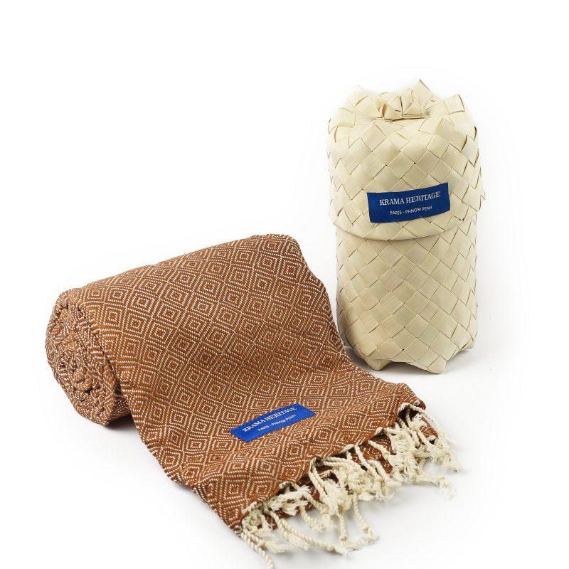 foulard krama chaud beige