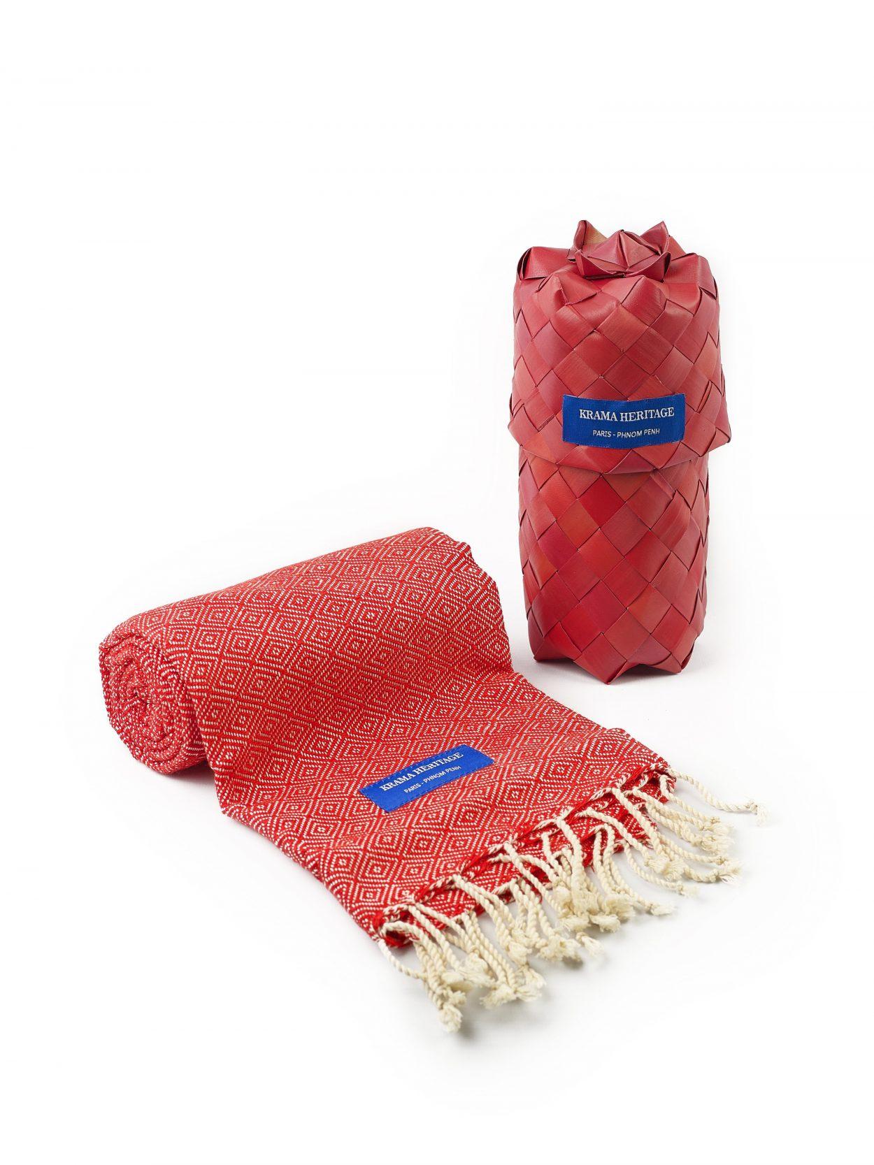 foulard krama chaud rouge