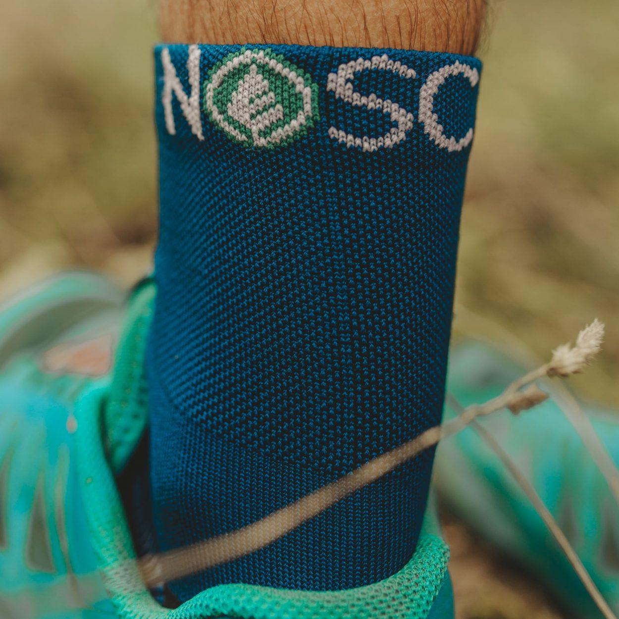 chaussette, sport, bleu