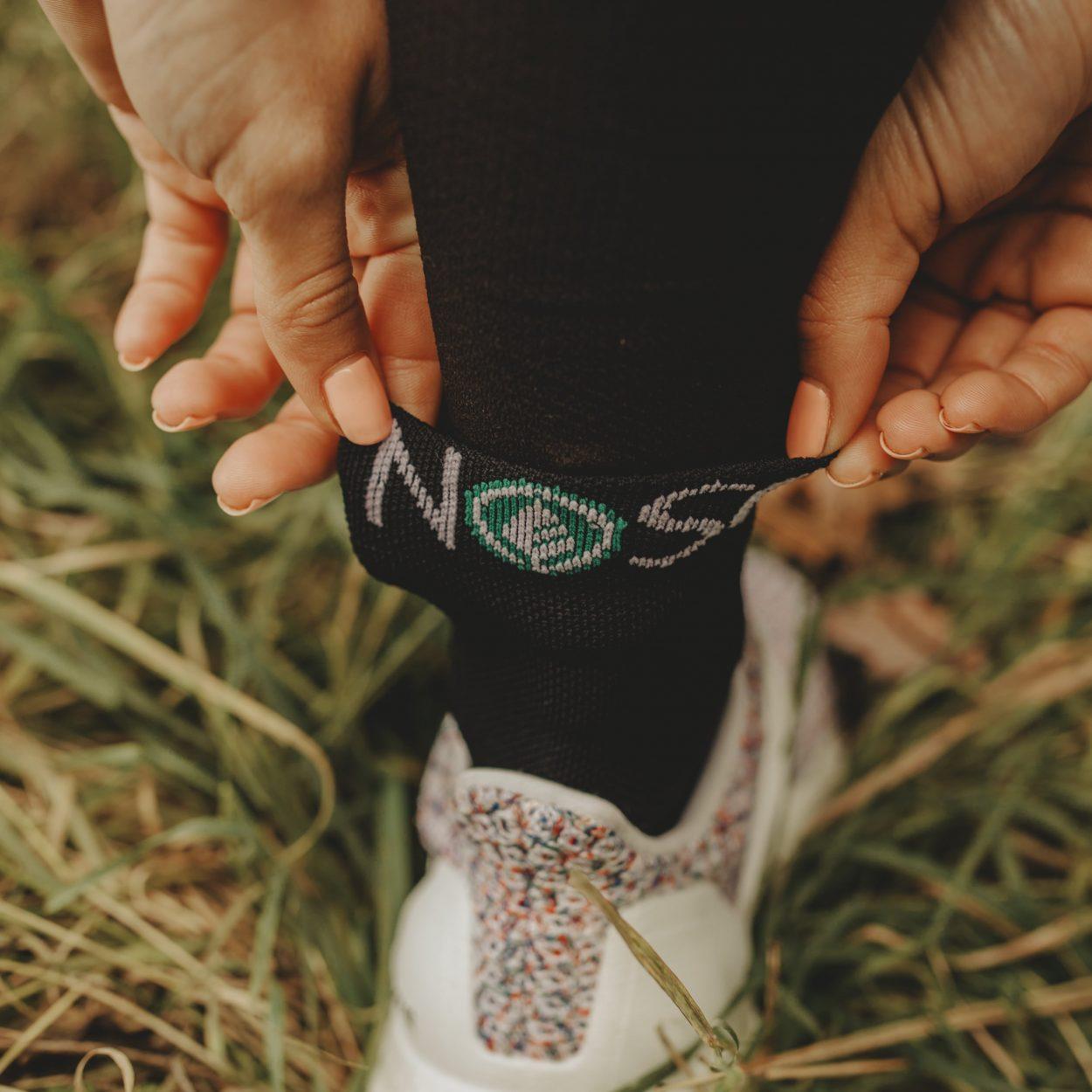 chaussette, sport, noir
