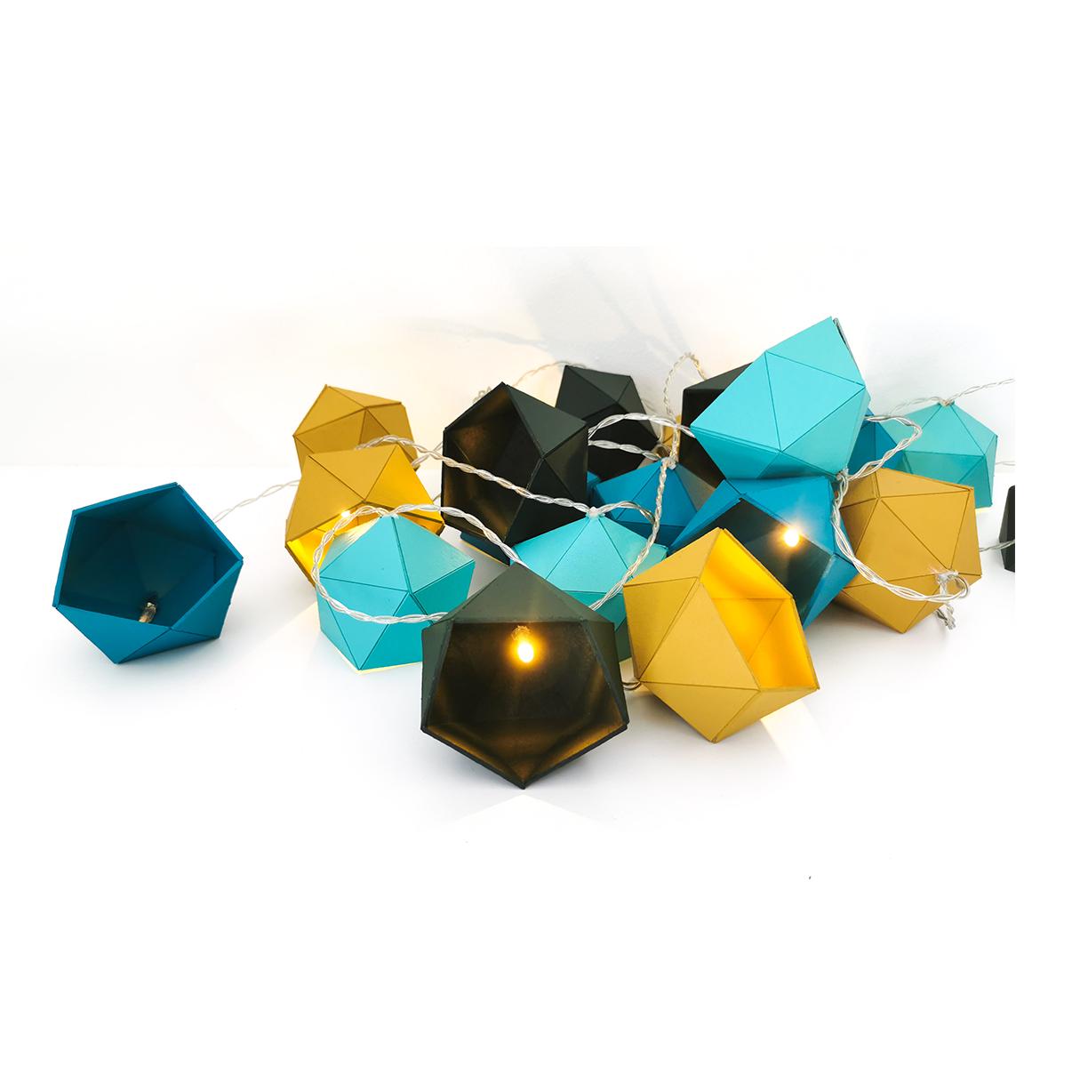 guirlande lumineuse origami